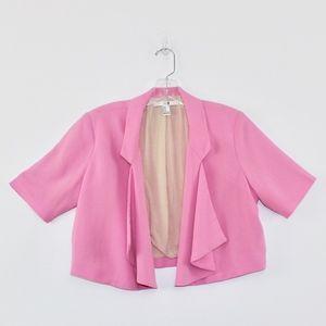 XXI Jackets & Coats - XXI Crop Short Sleeve Blazer Ruffle Front Medium M